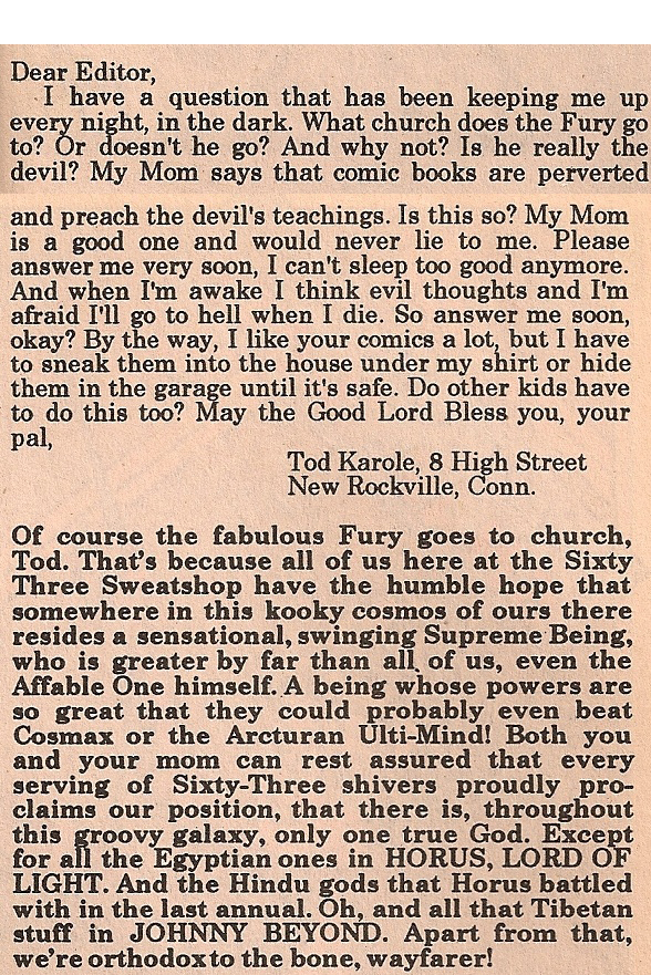 1963 alan moore comic fake letter