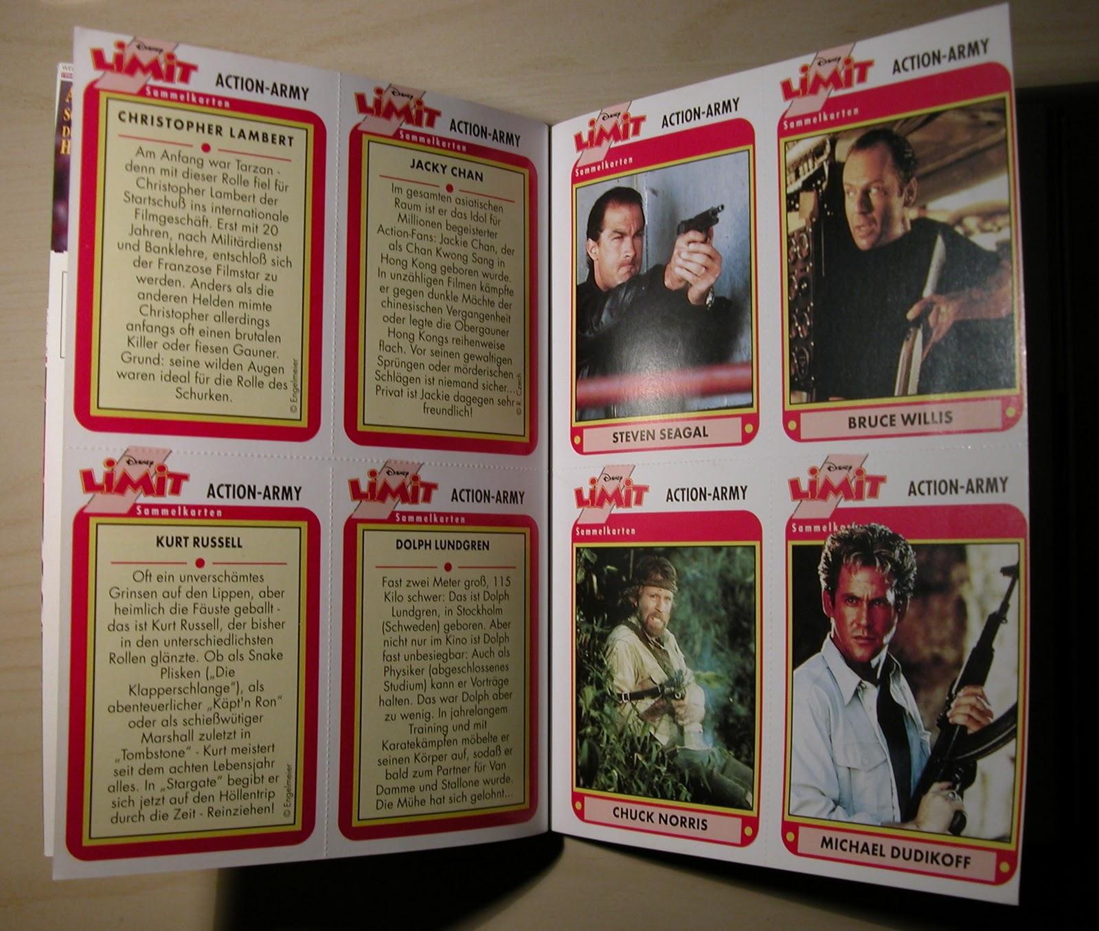 Action Army Sammelkarten aus dem Limit Magazin von ehepa