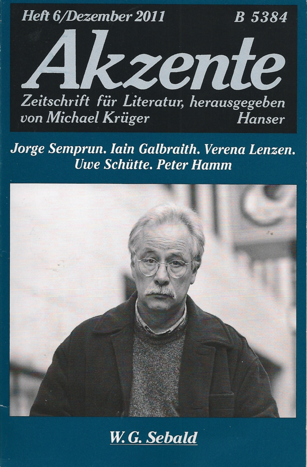 Akzente Dezember 2011 W. G. Sebald