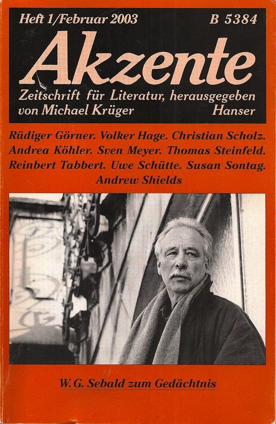 Akzente Februar 2003 W. G. Sebald