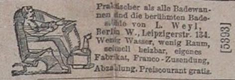 Badewannen 1888