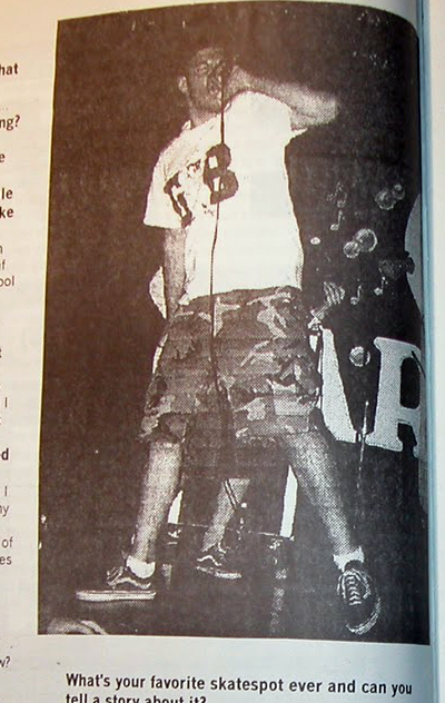 Chris Kelly of 97a in Stand Apart fanzine 1