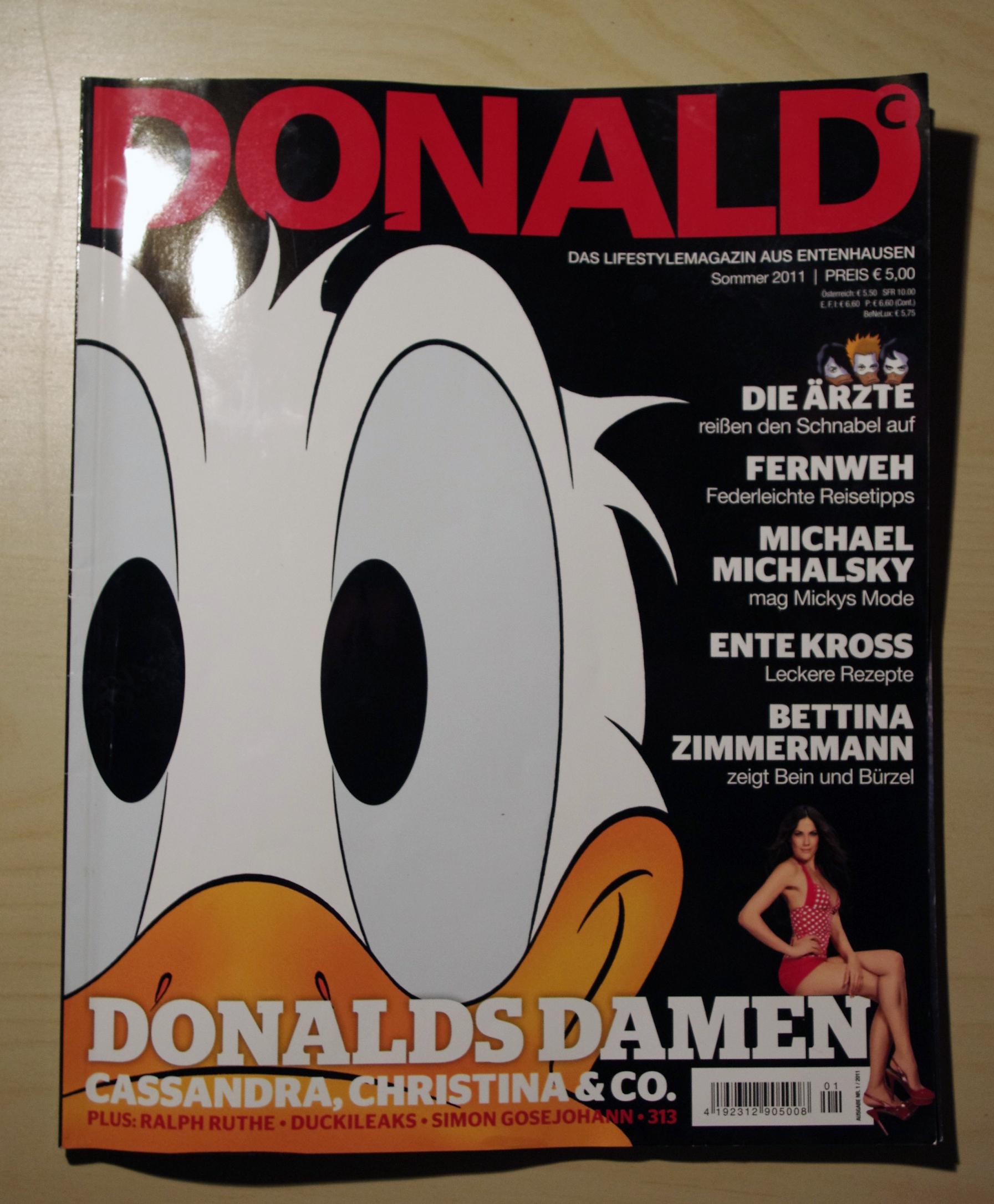 DONALD Magazin Sommer 2011