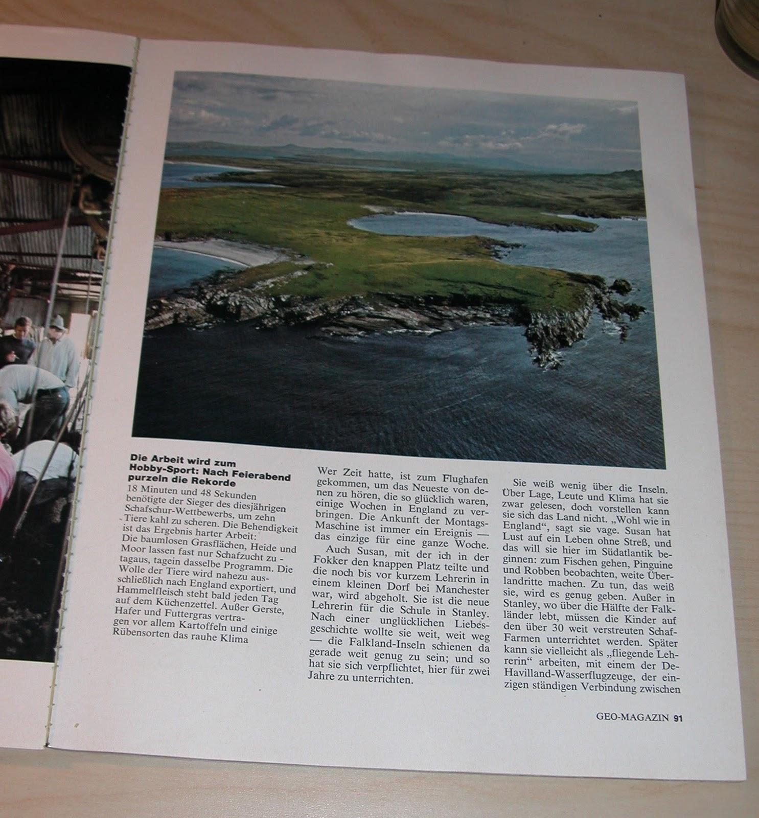 Die Falklandinseln in GEO Oktober 1977