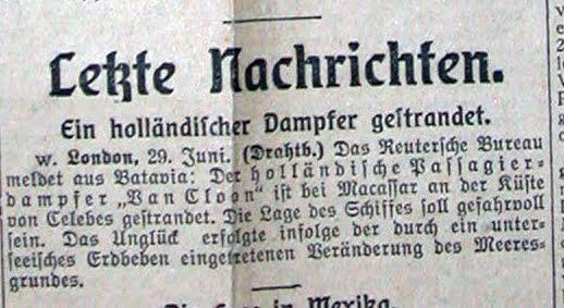 Dampfer van Cloon Juni 1914