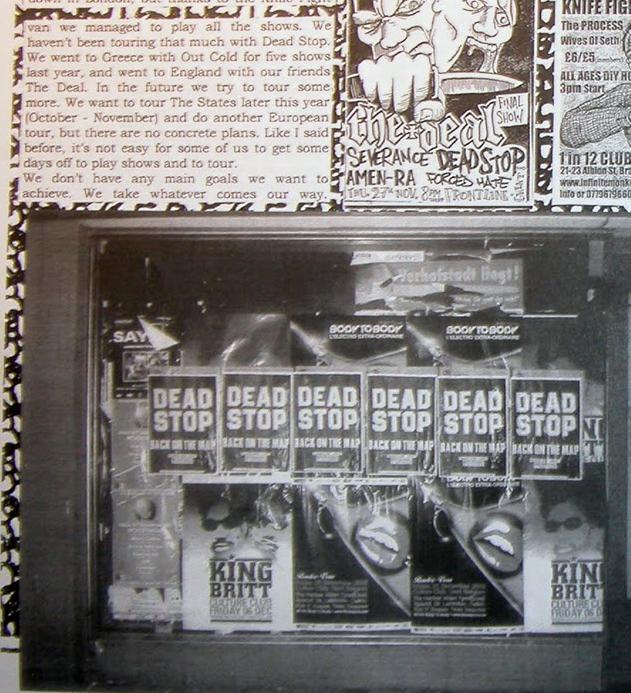 Dead Stop in Complete Control Records Fanzine