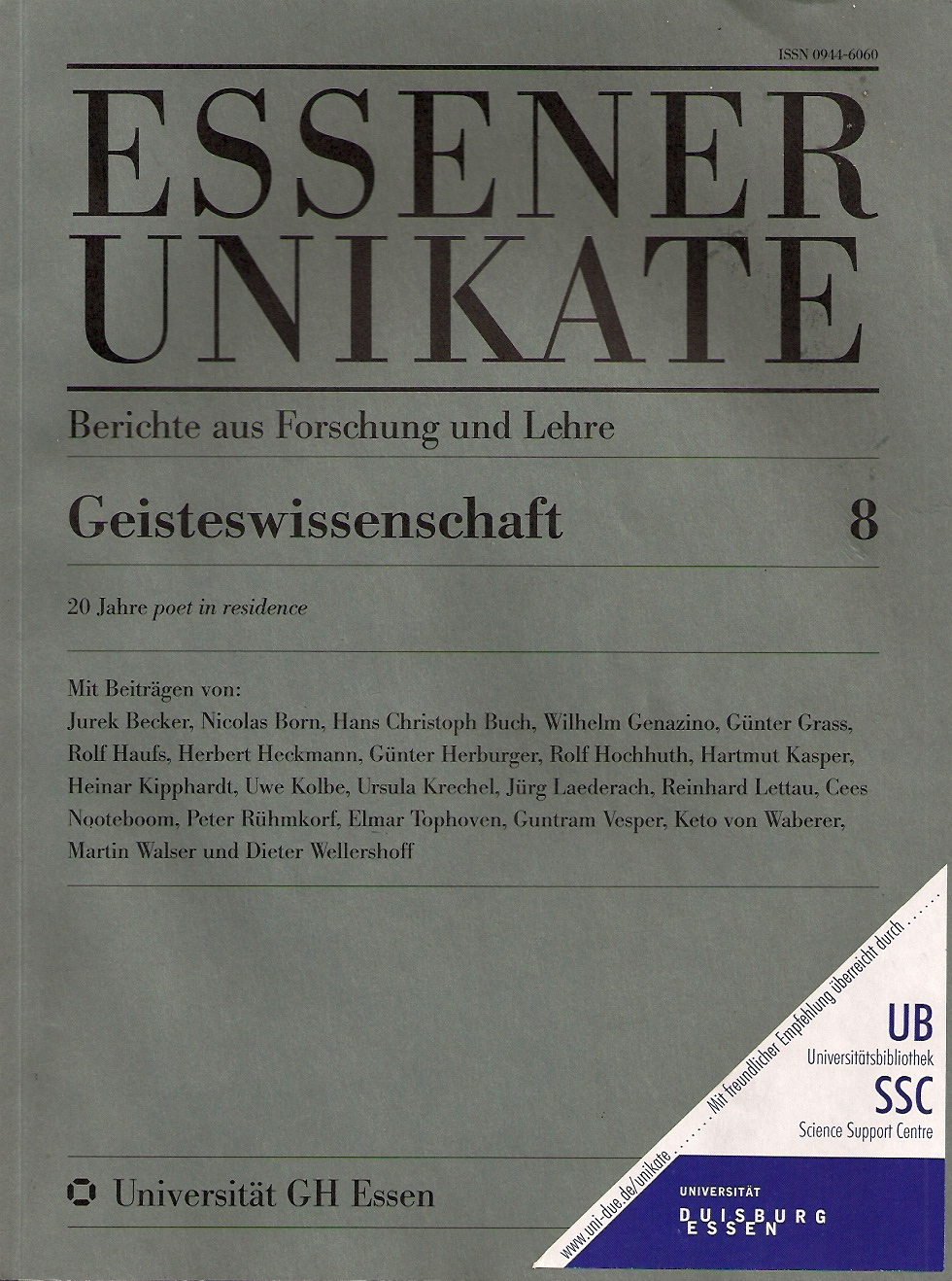 Essener Unikate 8 1996