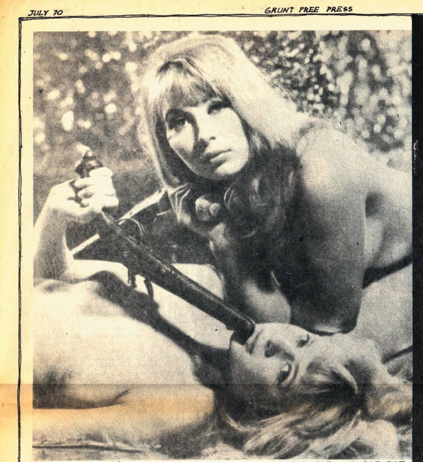 Girls in Vietnam War underground newspaper Grunt Free Press 1970