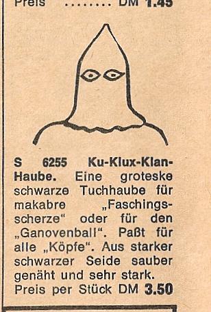 Ku-Klux-Klan Verkleidung IMEX 1967