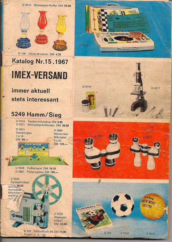 IMEX VERSAND Katalog 15 1967