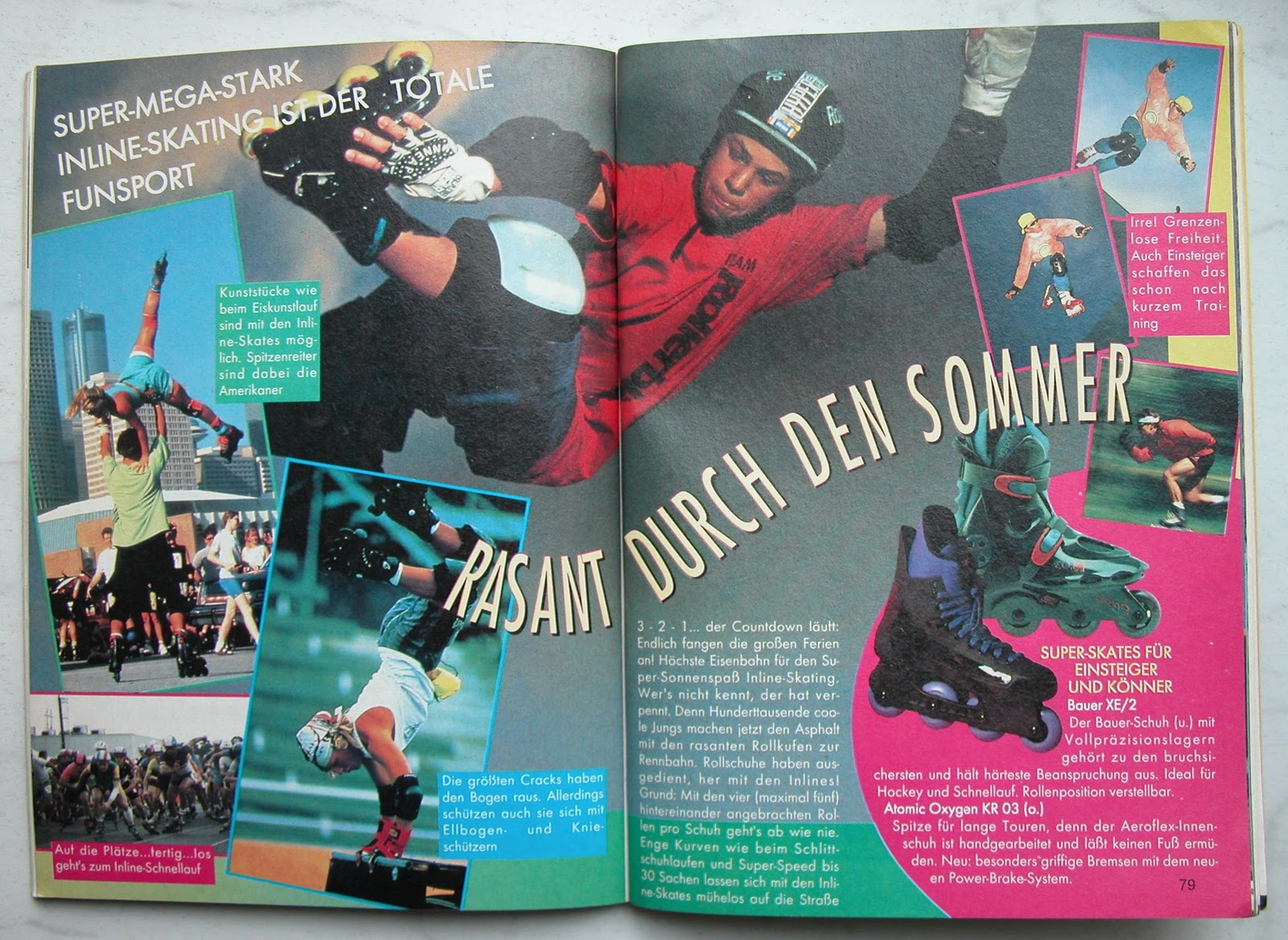 Artikel über Inline Skateing in Limit, 1994