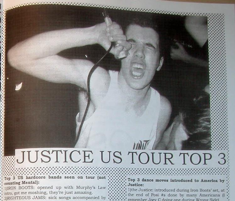 Justice in Complete Control Records Fanzine
