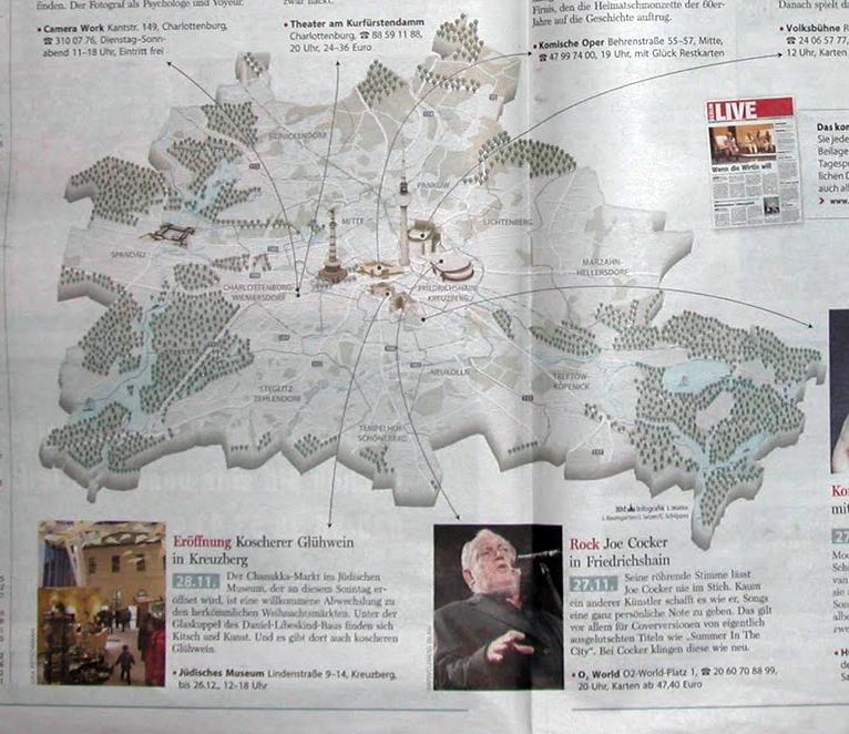 Joe Cocker im Kiez Radar der Berliner Morgenpost Wochenend Extra, November 2010