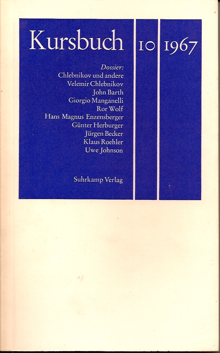 Kursbuch 10 1967 Titel