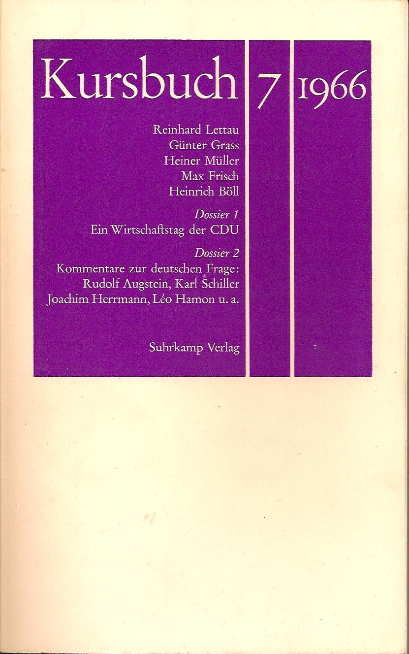 Kursbuch 7 1966 Titel