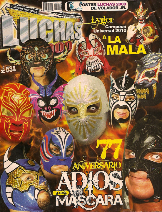 LUCHAS 2000 Mexikanisches Wrestling Magazin 2010