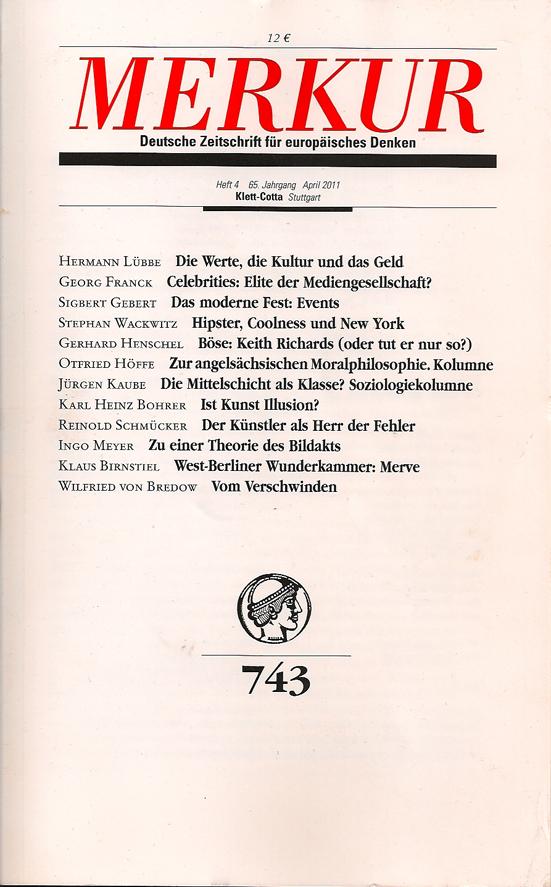 MERKUR Heft 4, 65. Jahrgang, April 2011