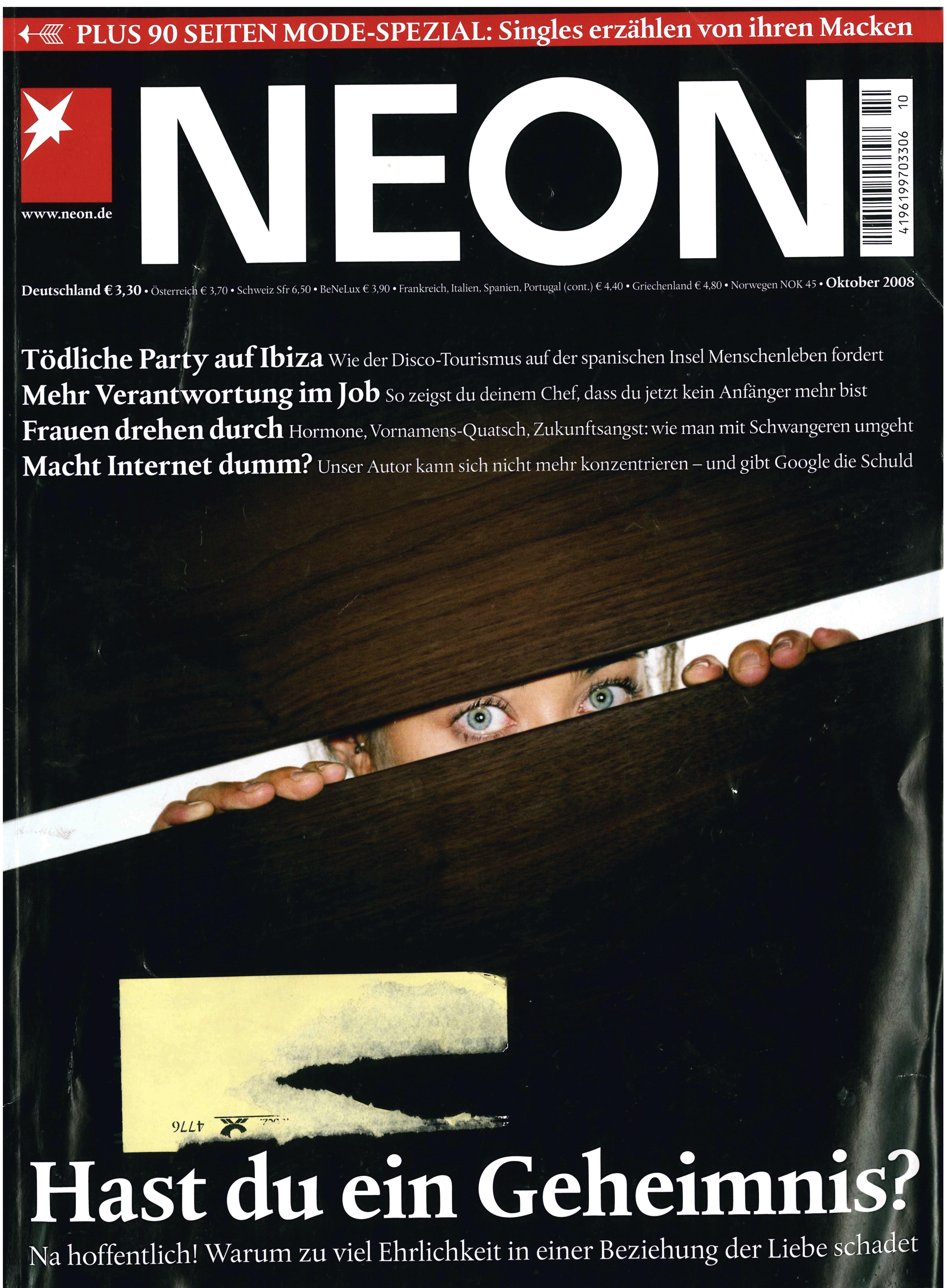 NEON Magazin Christian Kracht