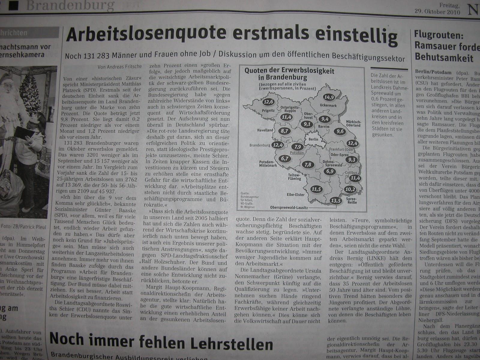 Neues Deutschland Arbeitsmarkt Statistik 2