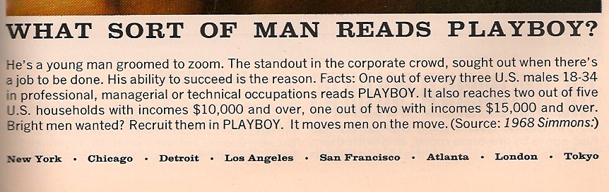 Playboy target group 1969