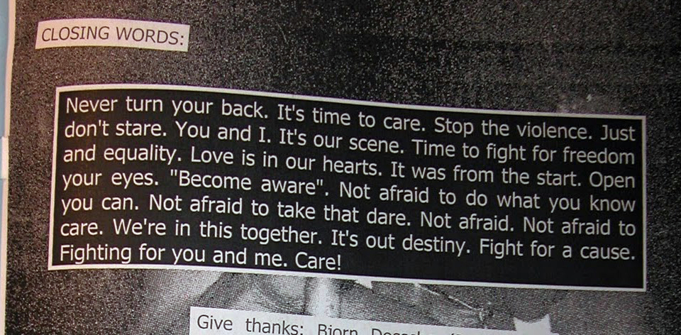 Powered Records Fanzine Closing Words