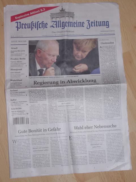 Preußische Allgemeine Zeitung - Nr. 34, 1. Oktober 2011