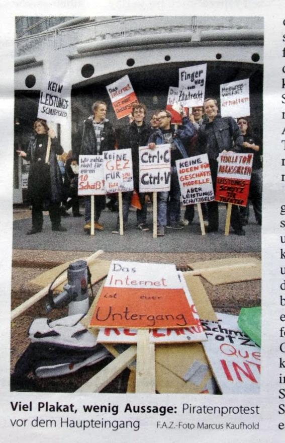 Priaten Protest Frankfurter Buchmesse 2011 Artikel FAZ