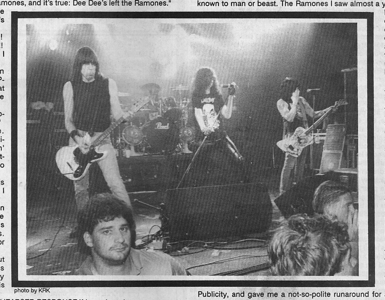 The Ramones Flipside Magazine 1989