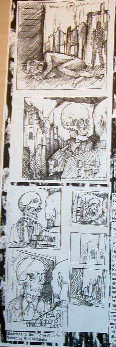 Sketches for Dead Stop Done With You Album by Rob Middleton