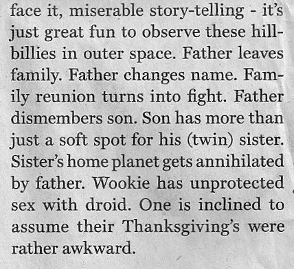 About the Skywalker family in Star Wars