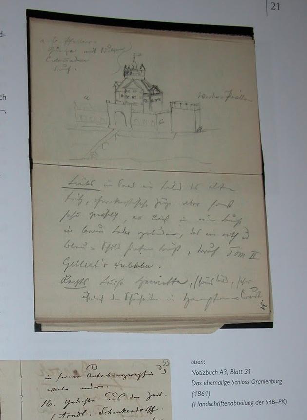 Theodor Fontanes Notizbuch im Bibliotheks Magazin 2010