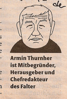 Armin Thurnher Illustration Falter Wien