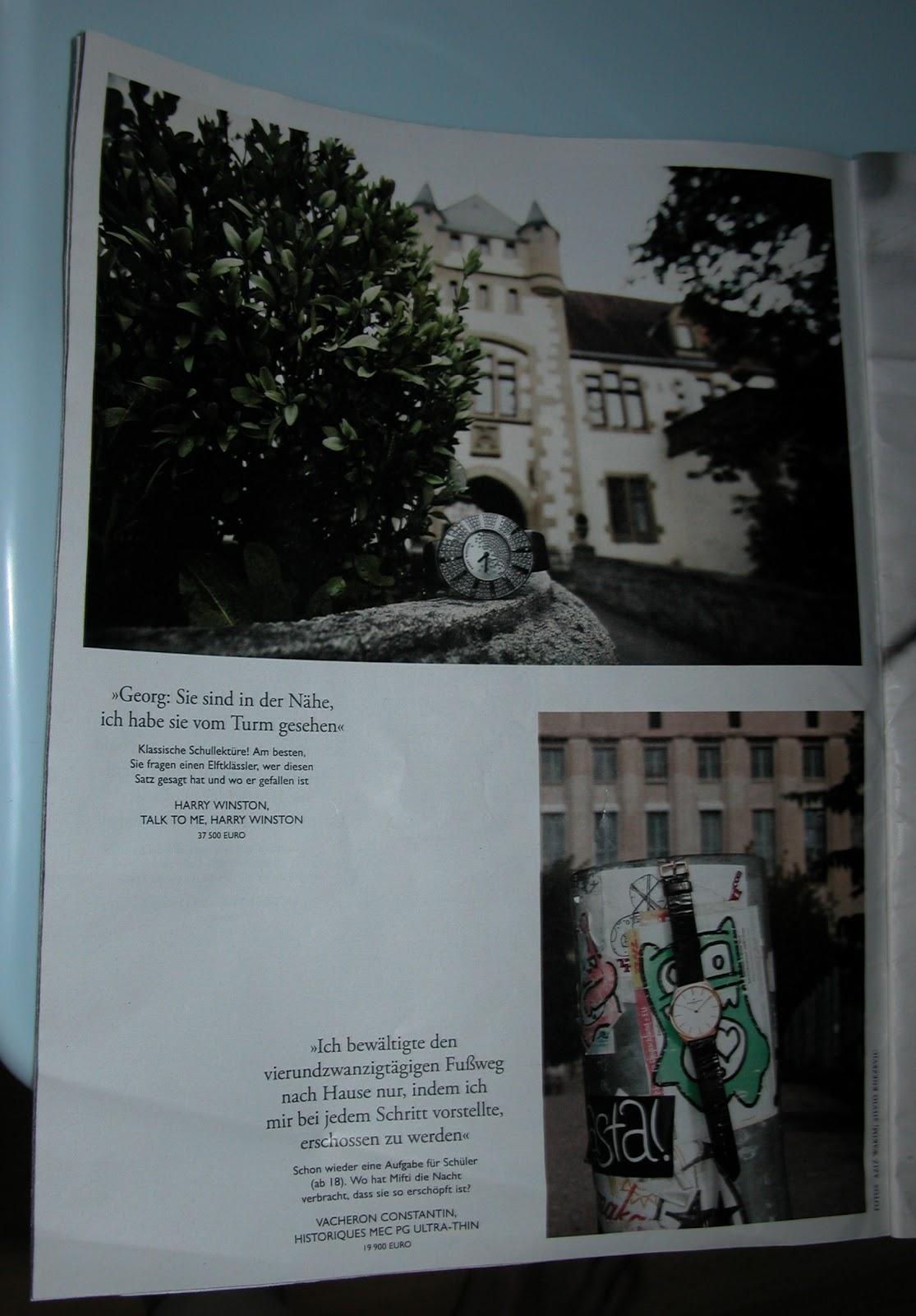 Eine sehr teure Armabanduhr vor dem Berghain im Zeit Magazin