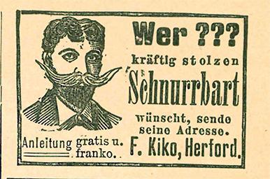 Anzeige Schnurrbart 1900