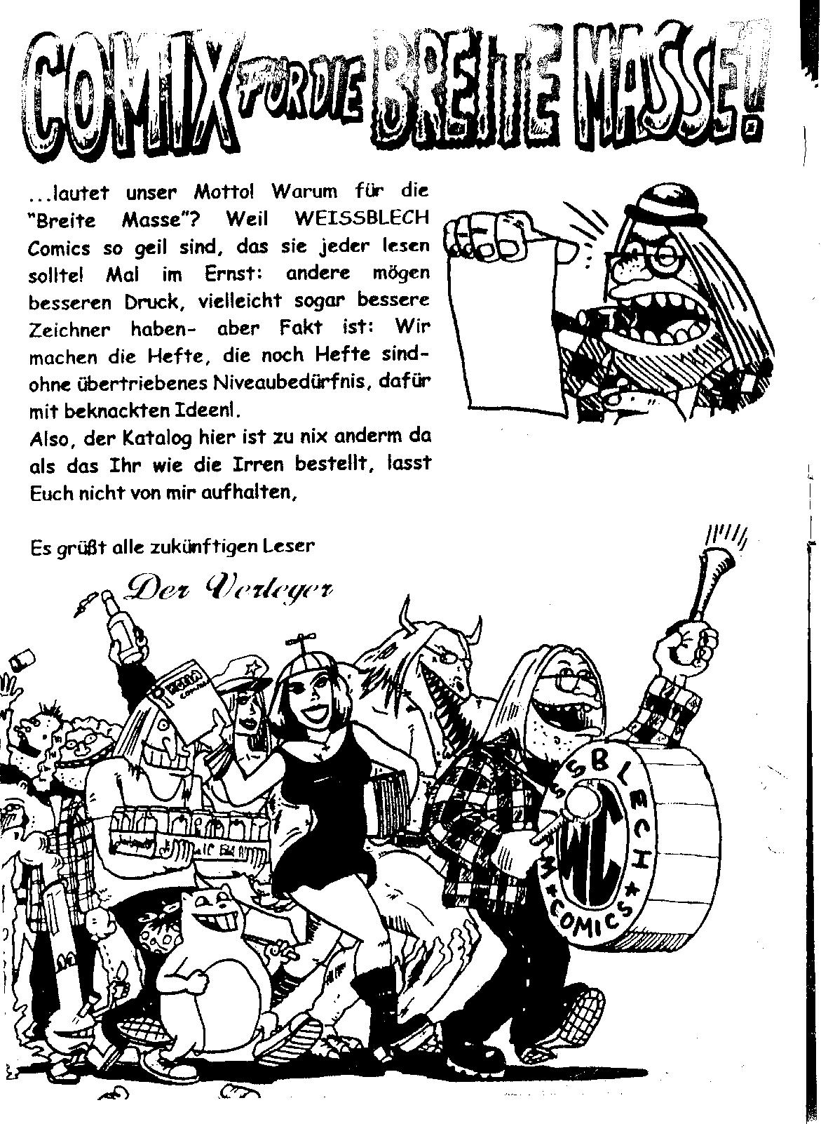 Weissblech Comics Katalog 2000