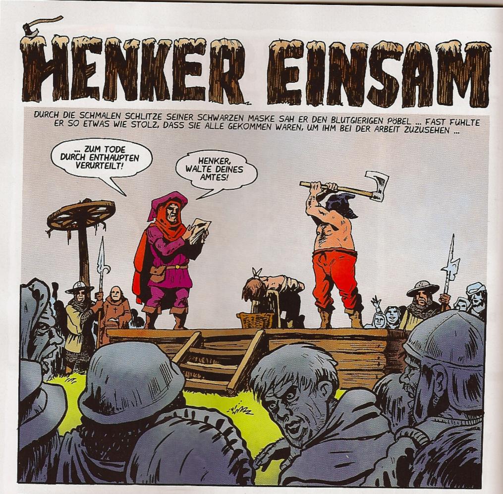 Weissblech Comics Henker Einsam Levin Kurio 2011