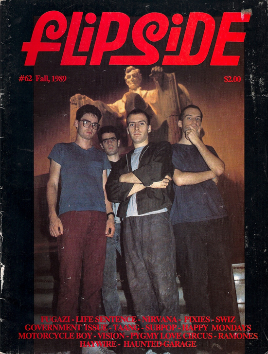 Flipside Magazine 1989 Nirvana Happy Mondays Sub Pop