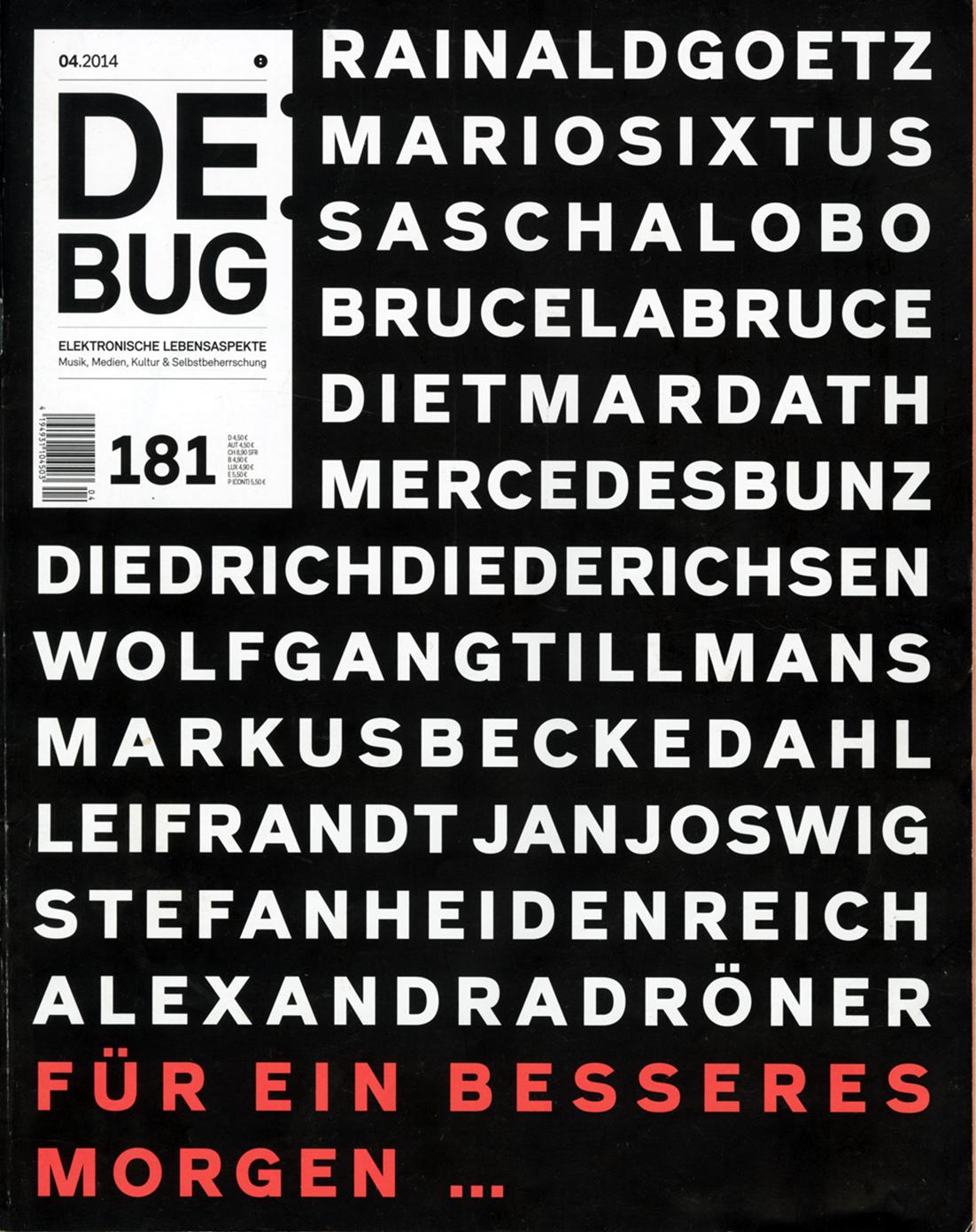 DeBug 181 April 2014 letzte Ausgabe