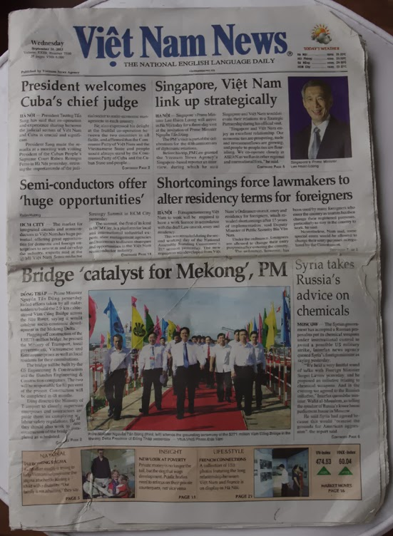 Vietnam News - Wednesday, September 11, 2013