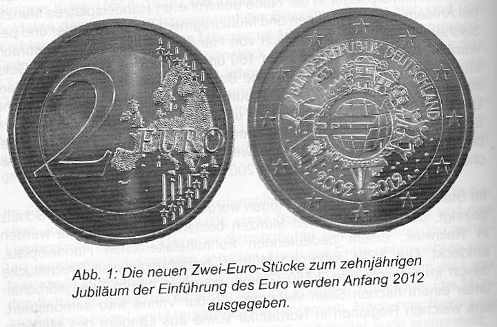 2 Euro 10 Jahre Euro Jubiläumsmünze Bundesrepublik Deutschland