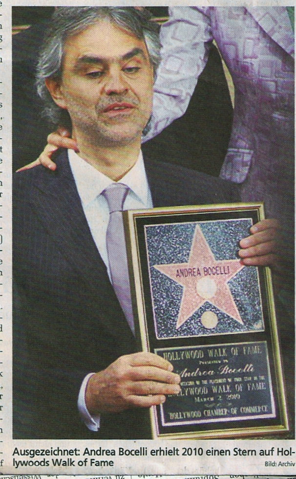 Andrea Brucelli Hollywood Walk of Fame 2011 PAS