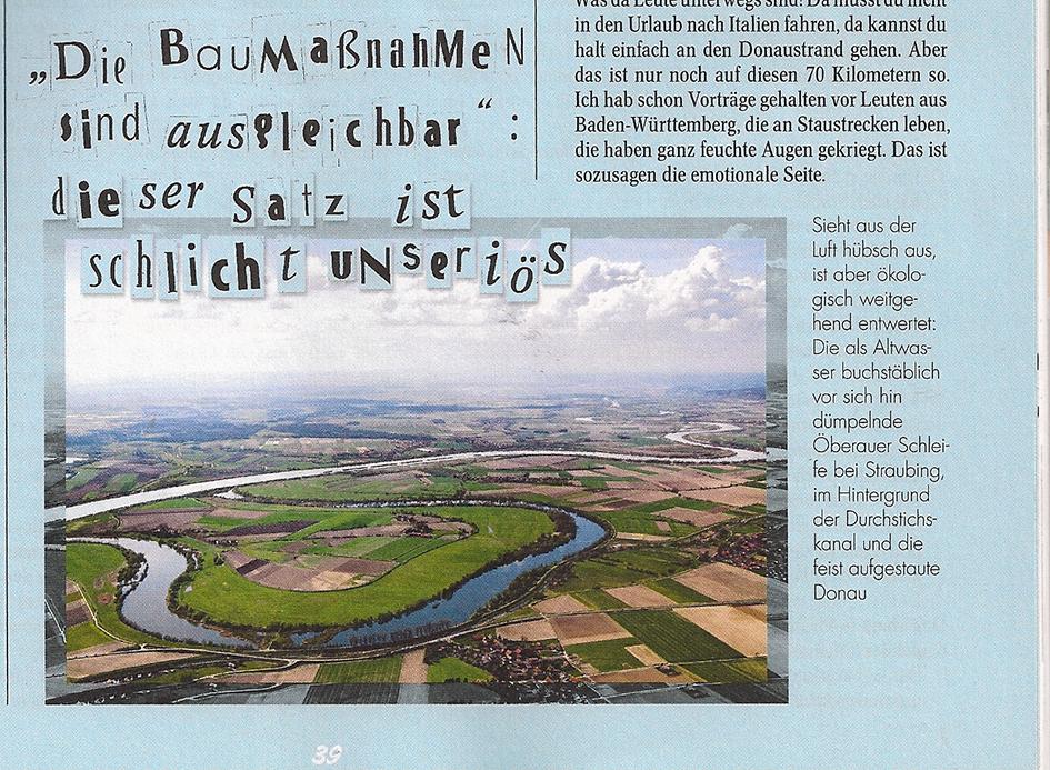 Begradigung Donau