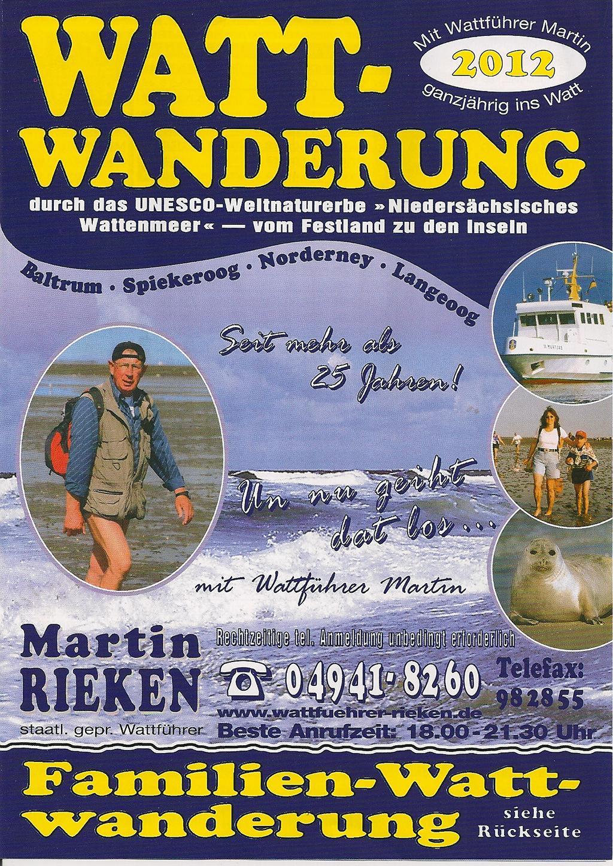 Wattwandern Martin Rieken Flyer