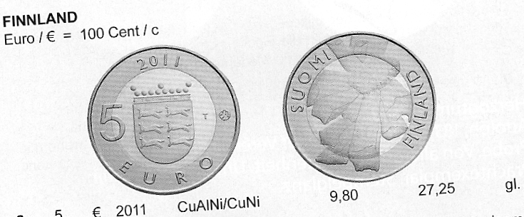 Finnland 5 Euro Münze Provinz Österbotten