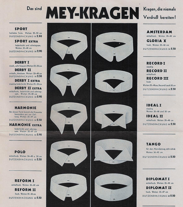 Mey Kragen Werbung 1932