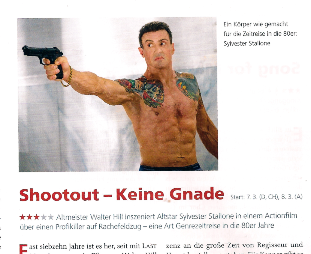 Shootout Sylvester Stallone epd Film 2013