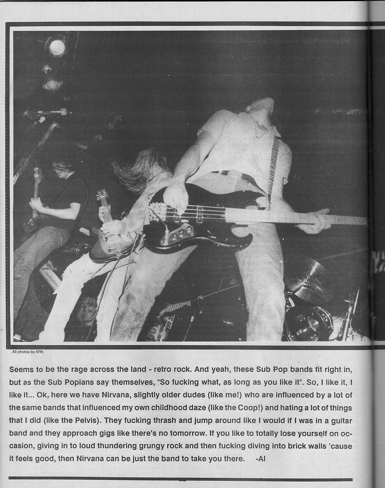 Nirvana Interview Flipside 1989