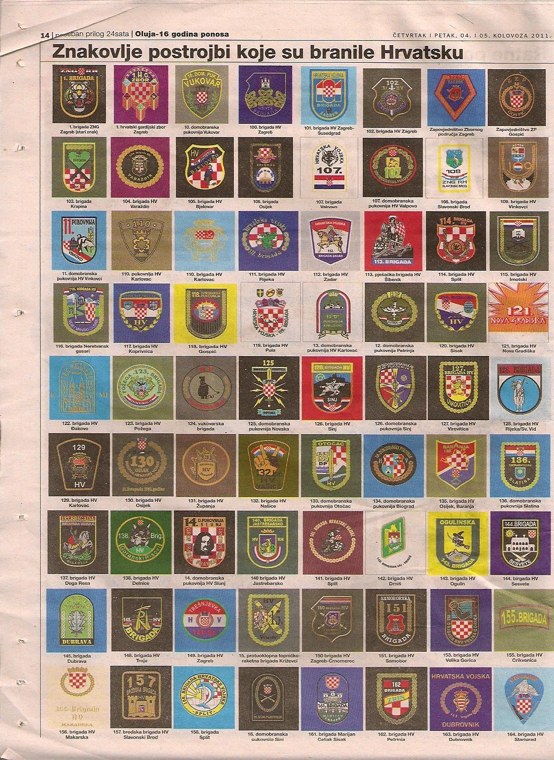 Abzeichen Wappen Armee Kroatien im Jugoslawienkrieg 2