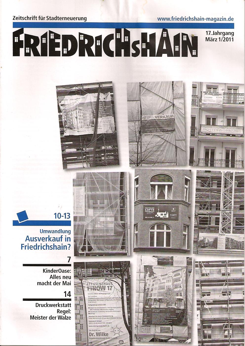 Friedrichshain März 2011 Zeitschrift für Stadterneuerung