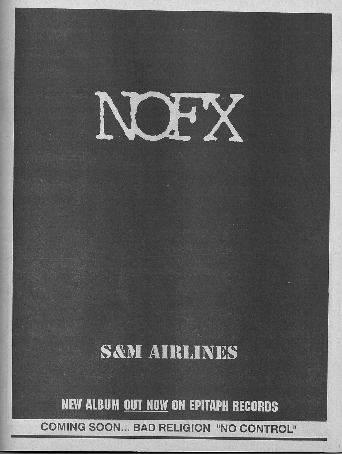 NOFX S&M Airlines Epitaph Advertising Flipside 1989
